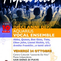 CONCERTO EVENTO – 10 ANNI di Aquarius Vocal Ensemble